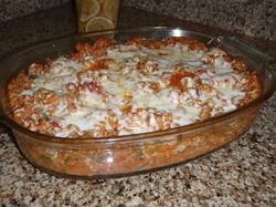 Rotini Vegetable Lasagna Bake