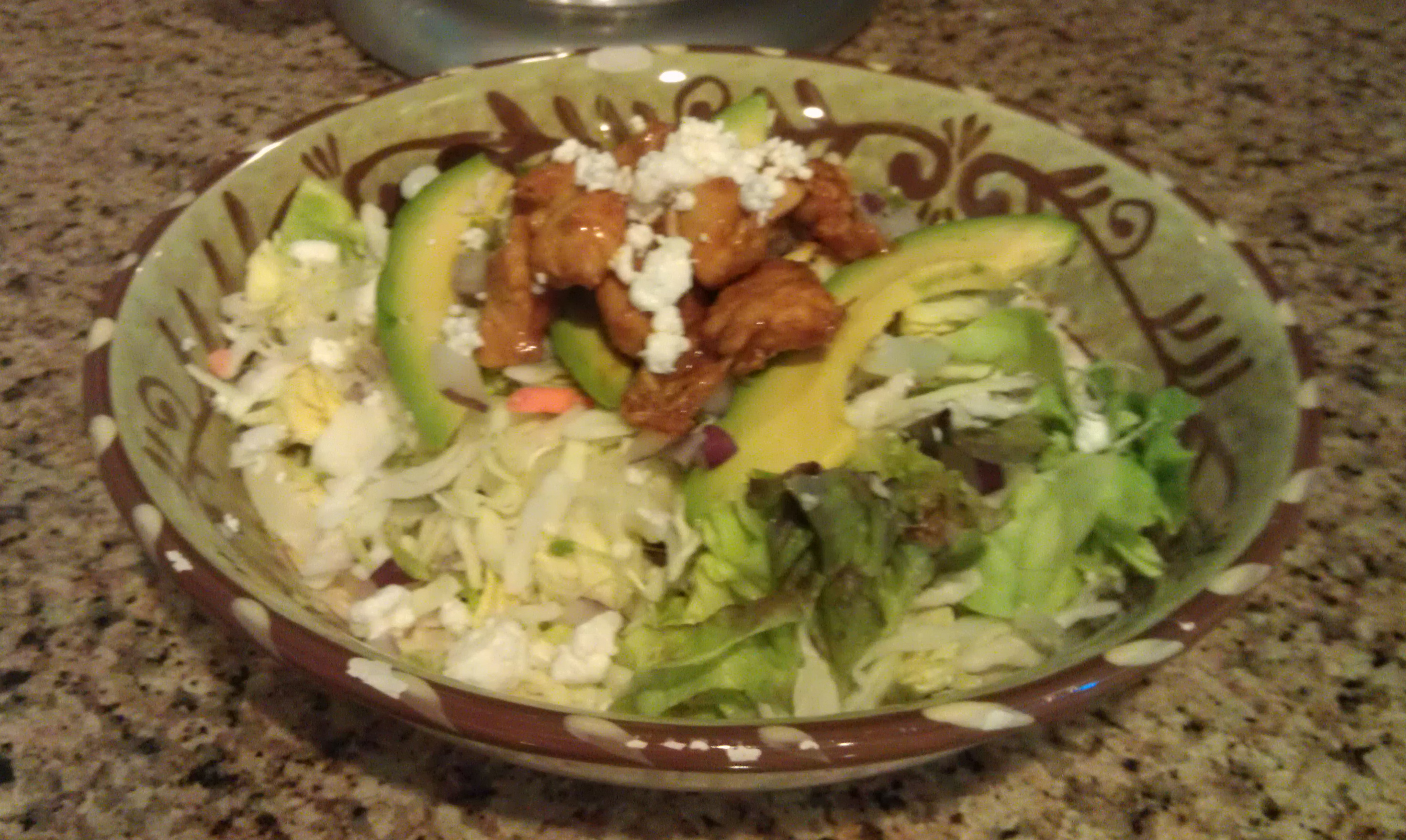 BBQ Chicken and Goat Cheese Salad